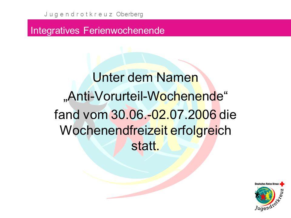 J u g e n d r o t k r e u z Oberberg Integratives Ferienwochenende