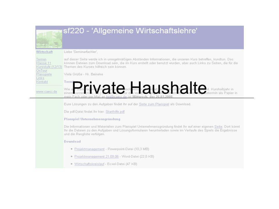 Private Haushalte