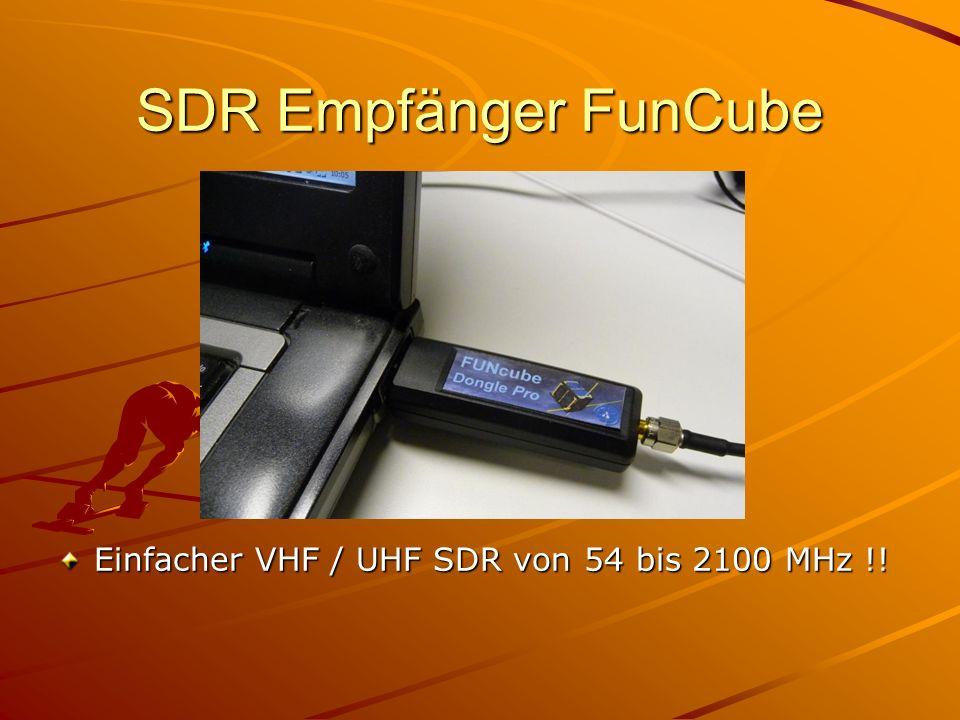SDR Empfänger FunCube Einfacher VHF / UHF SDR von 54 bis 2100 MHz !!
