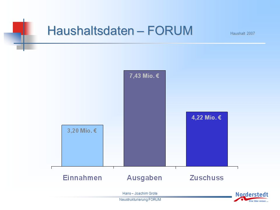 Hans – Joachim Grote Neustrukturierung FORUM Haushaltsdaten – FORUM Haushalt 2007