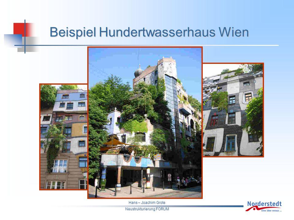 Hans – Joachim Grote Neustrukturierung FORUM Beispiel Hundertwasserhaus Wien