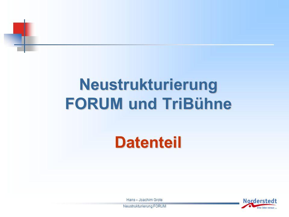 Hans – Joachim Grote Neustrukturierung FORUM Neustrukturierung FORUM und TriBühne Datenteil