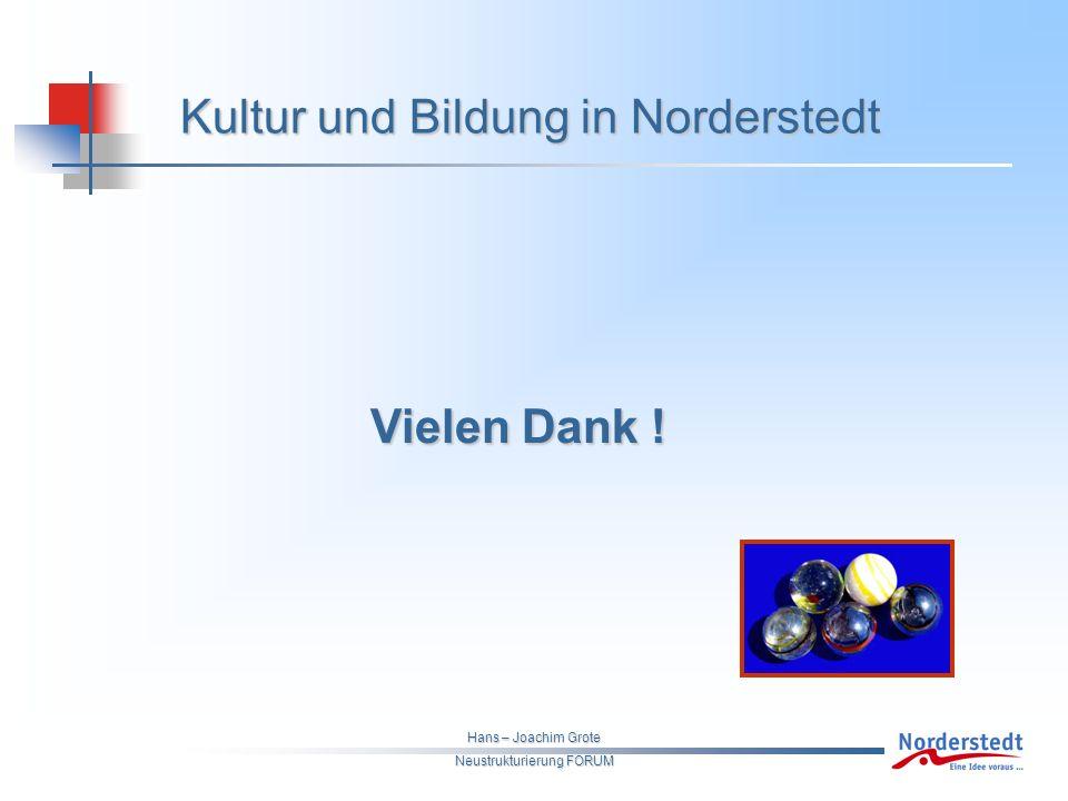 Hans – Joachim Grote Neustrukturierung FORUM Kultur und Bildung in Norderstedt Vielen Dank .