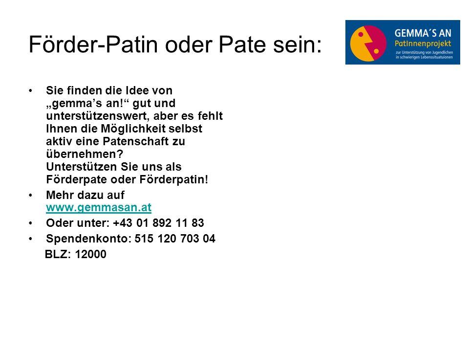 Förder-Patin oder Pate sein: Sie finden die Idee von gemmas an.