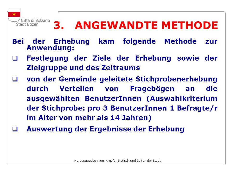 Herausgegeben vom Amt für Statistik und Zeiten der Stadt Zufriedenheit mit spezifischen Aspekten des Freibads (Fortsetzung)