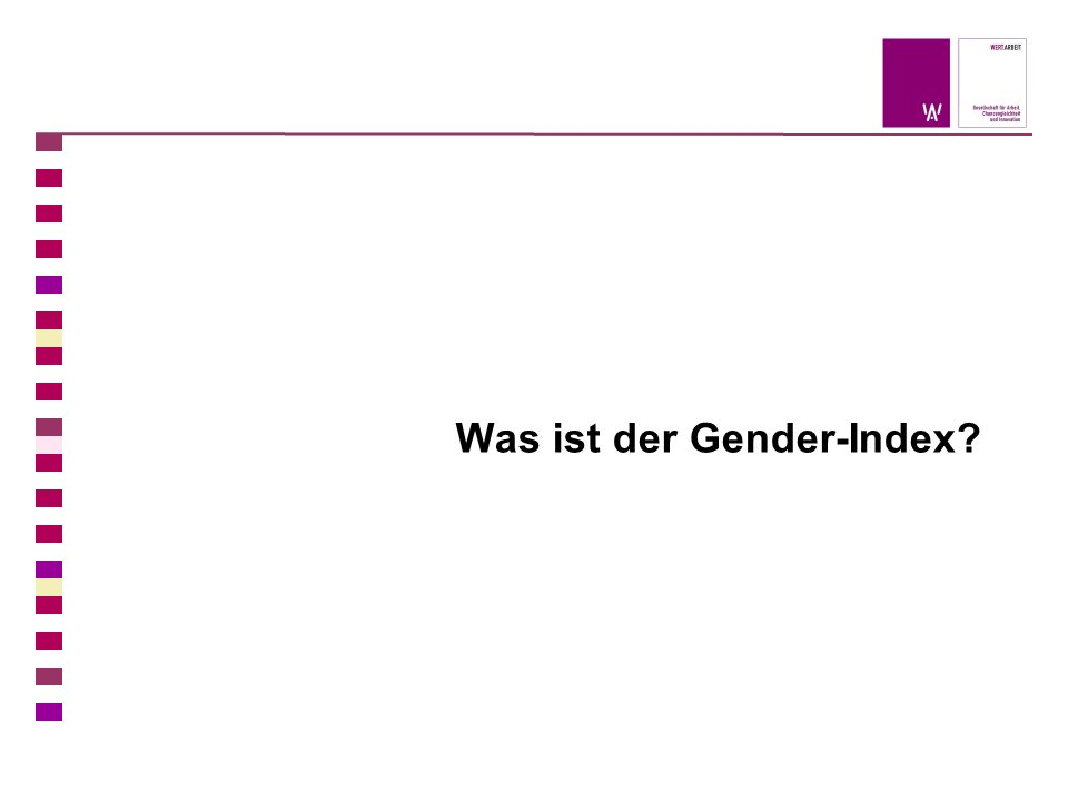 Was ist der Gender-Index?