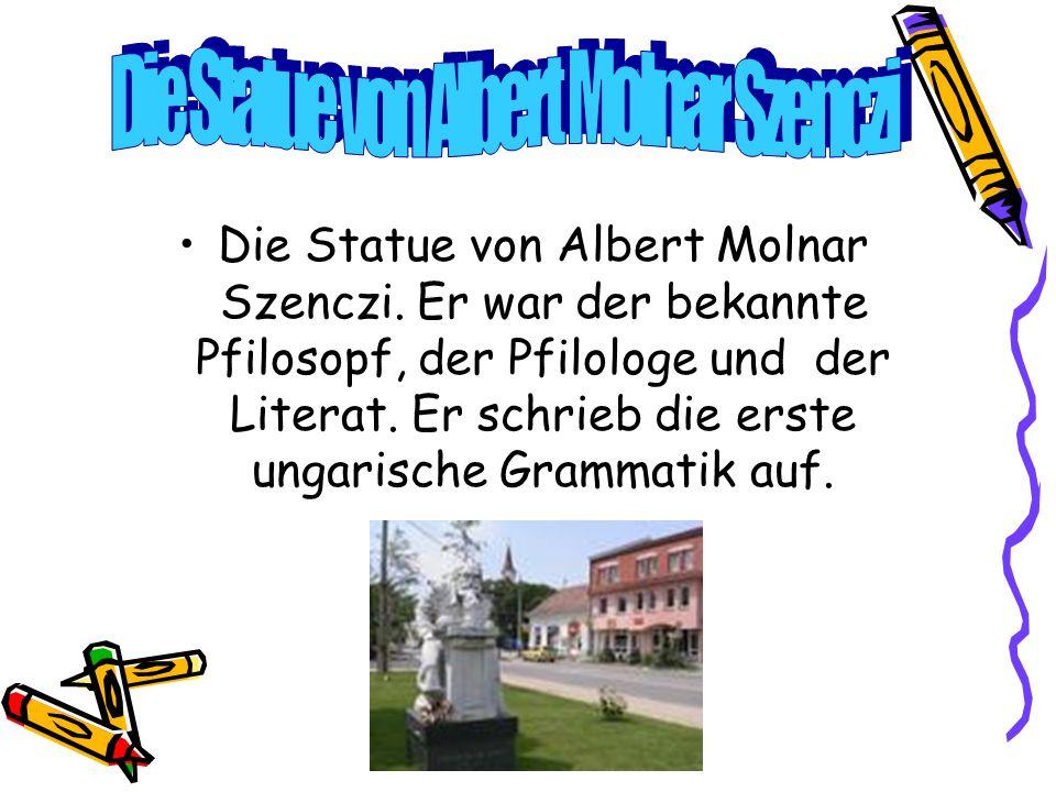 Die Statue von Albert Molnar Szenczi. Er war der bekannte Pfilosopf, der Pfilologe und der Literat.