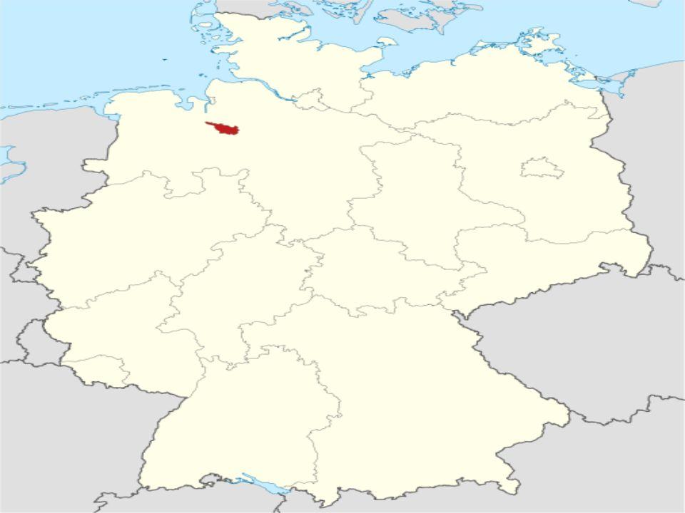 Bremen liegt zu beiden Seiten der Weser, etwa 60 Kilometer vor deren Mündung in die Nordsee bzw.