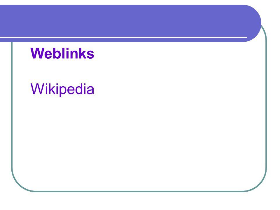 Weblinks Wikipedia