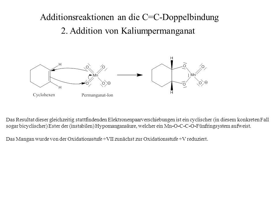 Das Resultat dieser gleichzeitig stattfindenden Elektronenpaarverschiebungen ist ein cyclischer (in diesem konkreten Fall sogar bicyclischer) Ester de