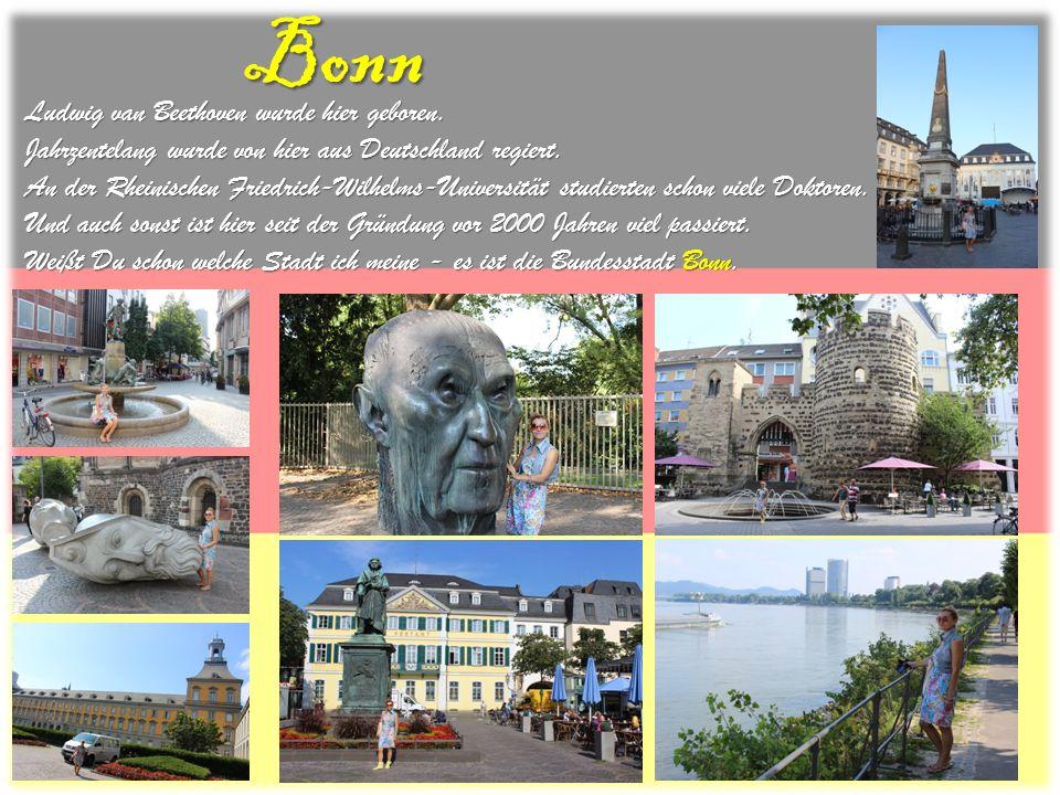 Bonn Ludwig van Beethoven wurde hier geboren. Jahrzentelang wurde von hier aus Deutschland regiert. An der Rheinischen Friedrich-Wilhelms-Universität