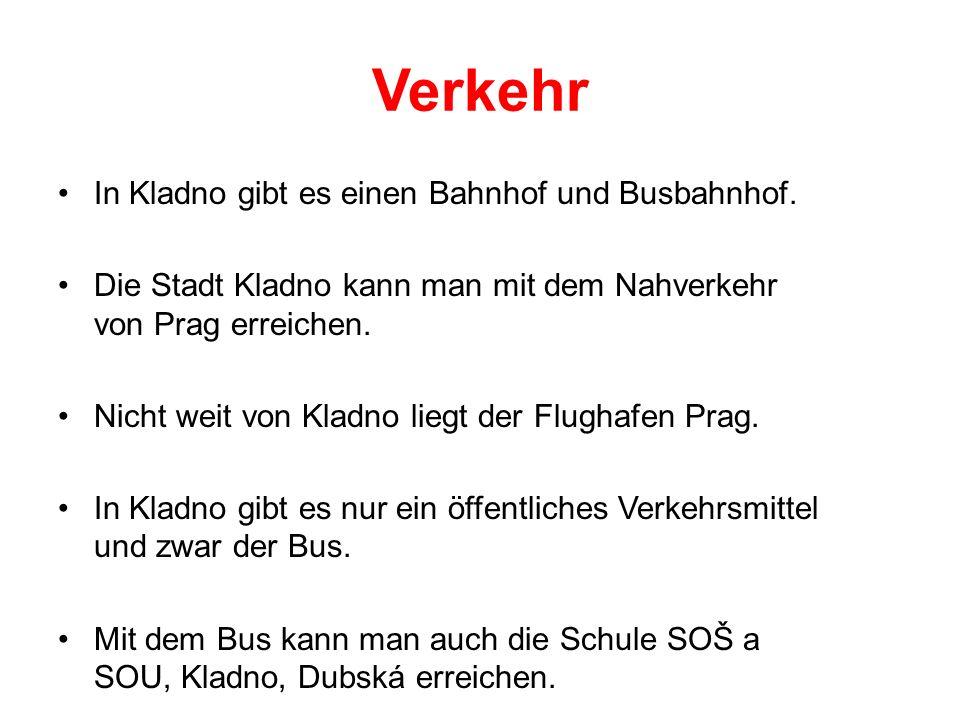 Verkehr In Kladno gibt es einen Bahnhof und Busbahnhof.