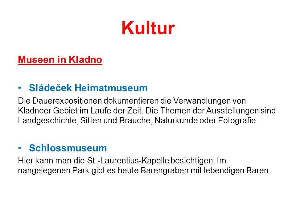 Kultur Museen in Kladno Sládeček Heimatmuseum Die Dauerexpositionen dokumentieren die Verwandlungen von Kladnoer Gebiet im Laufe der Zeit.