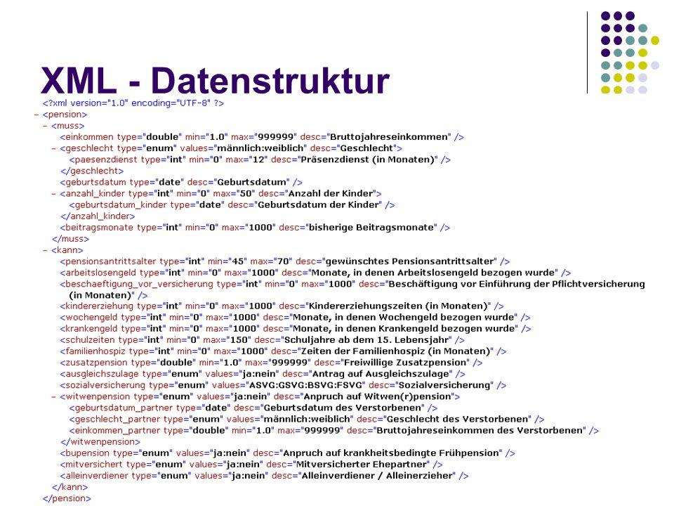 XML - Datenstruktur