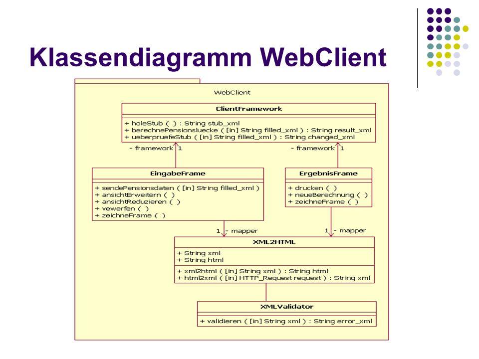 Klassendiagramm WebClient