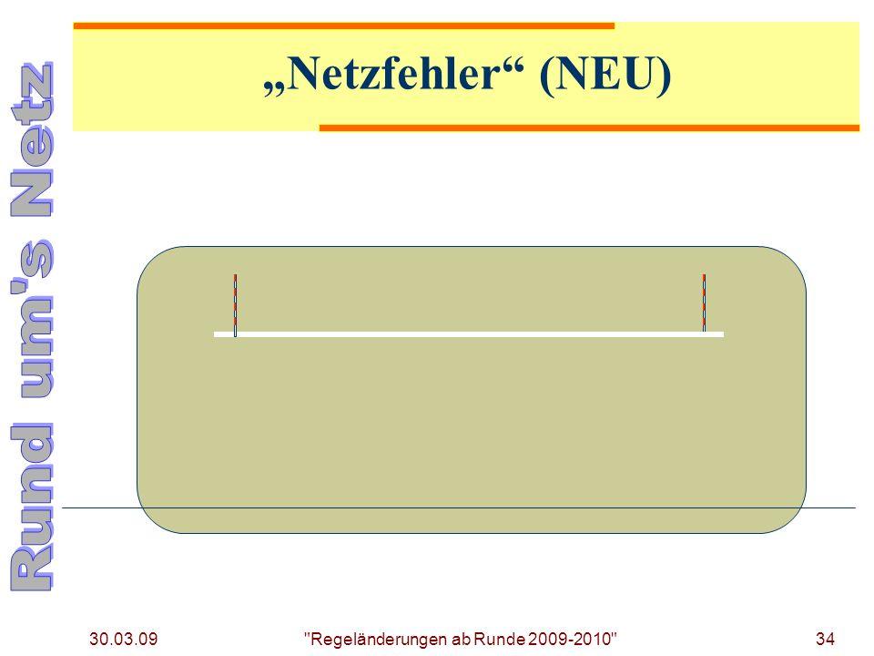 30.03.09 34 Regeländerungen ab Runde 2009-2010 Netzfehler (NEU)