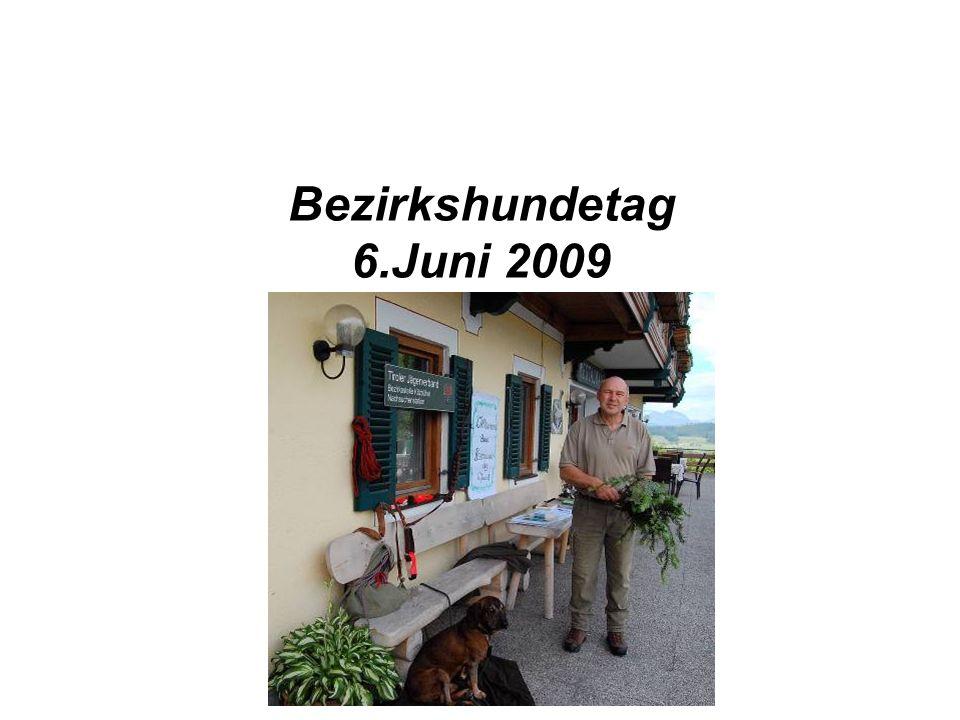 Bezirkshundetag 6.Juni 2009