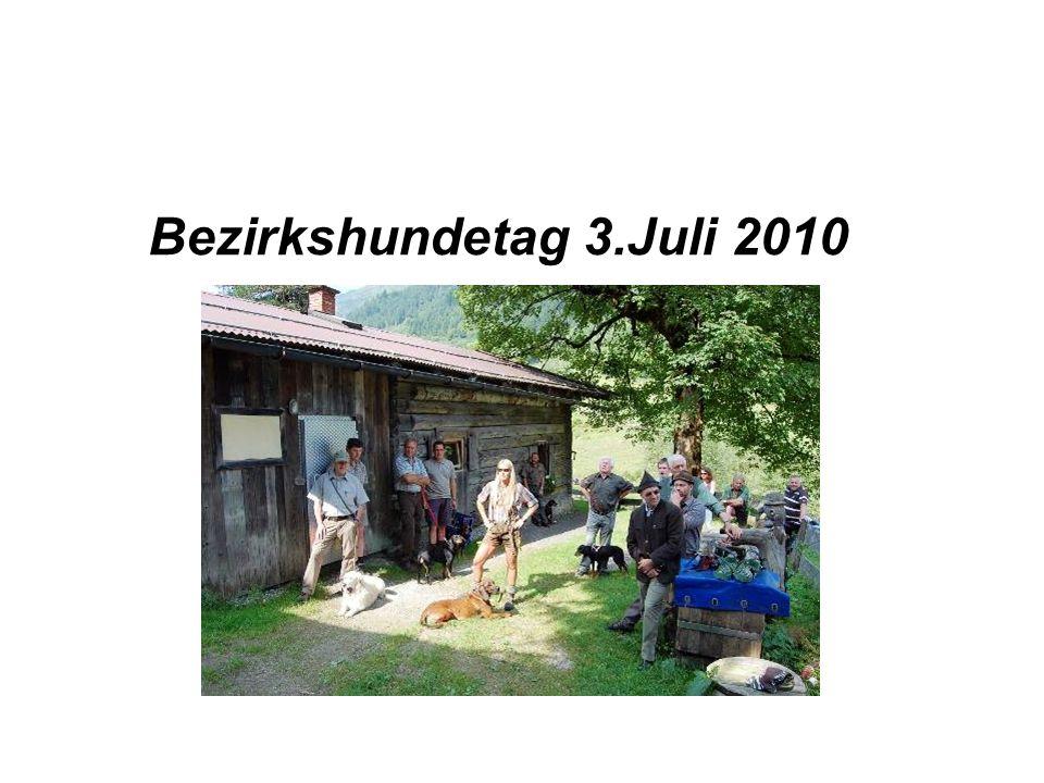 Bezirkshundetag 3.Juli 2010