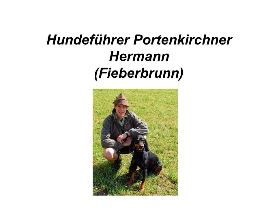 Hundeführer Portenkirchner Hermann (Fieberbrunn)