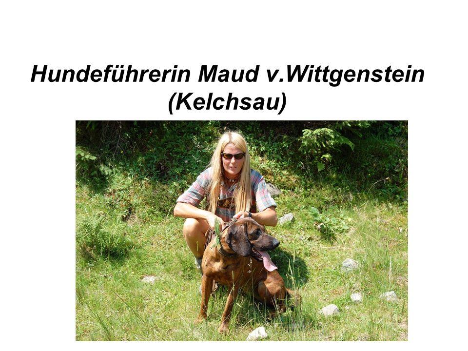 Hundeführerin Maud v.Wittgenstein (Kelchsau)