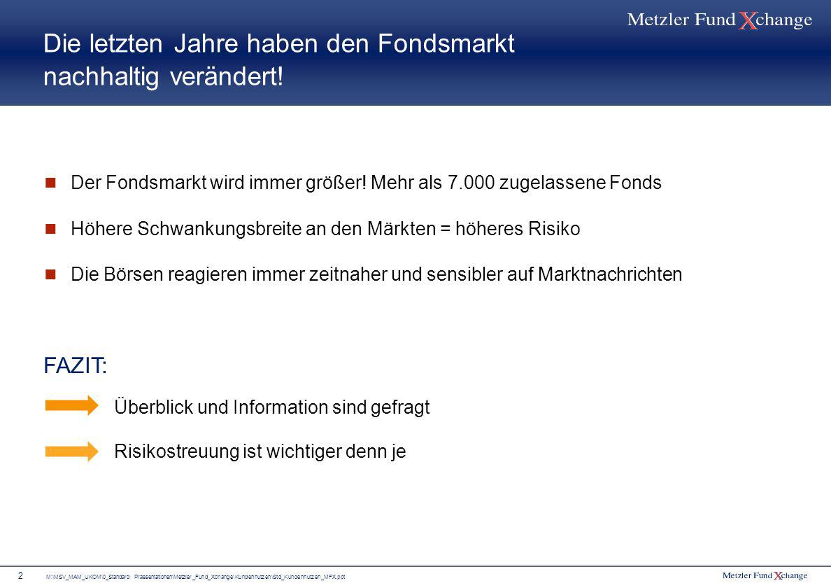 M:\MSV_MAM_UKOM\0_Standard Praesentationen\Metzler_Fund_Xchange\Kundennutzen\Std_Kundennutzen_MFX.ppt 2 Die letzten Jahre haben den Fondsmarkt nachhal