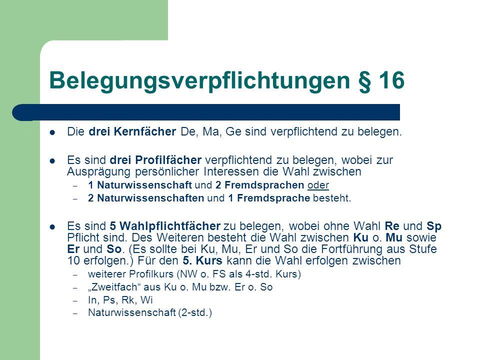 Abiturprüfung §19 ff.