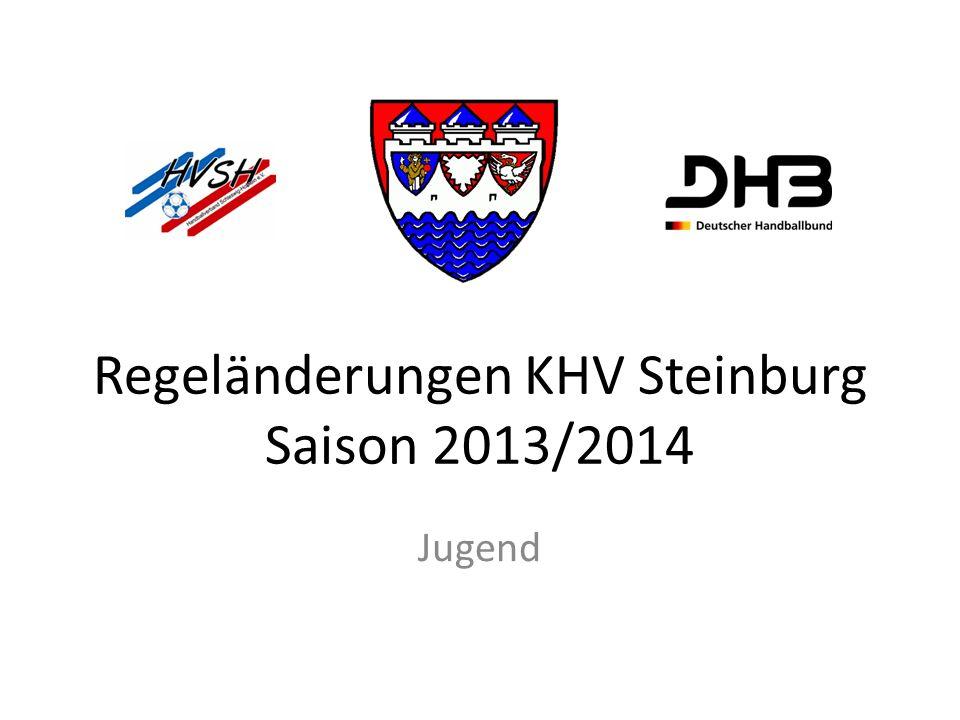 Regeländerungen KHV Steinburg Saison 2013/2014 Jugend