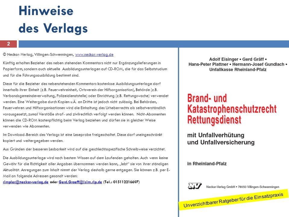Hinweise des Verlags © Neckar-Verlag, Villingen-Schwenningen, www.neckar-verlag.dewww.neckar-verlag.de Künftig erhalten Bezieher des neben stehenden K