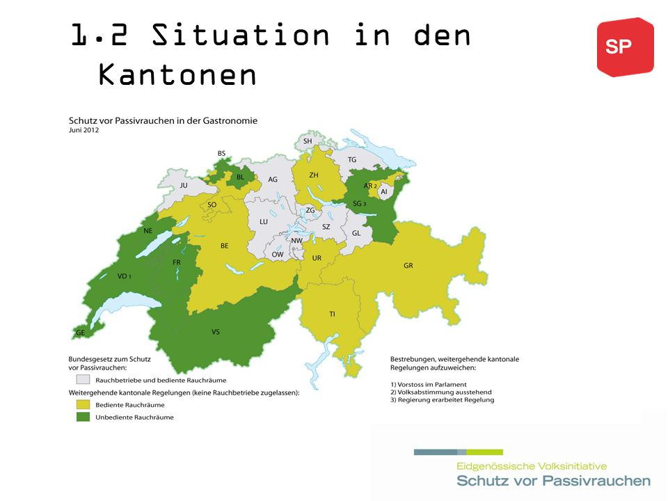 1.2 Situation in den Kantonen