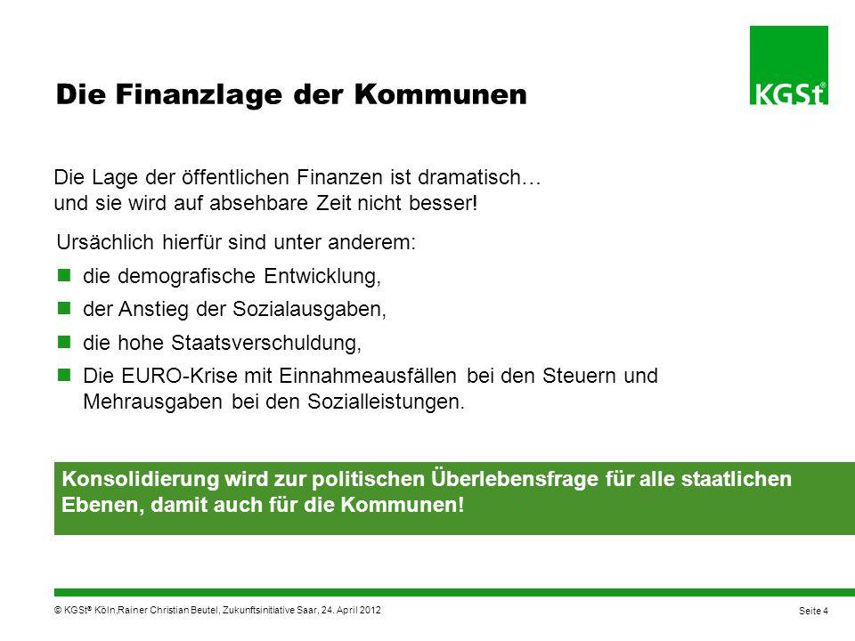 © KGSt ® Köln, OB-Boot KGSt Gestern standen wir vor dem Abgrund.