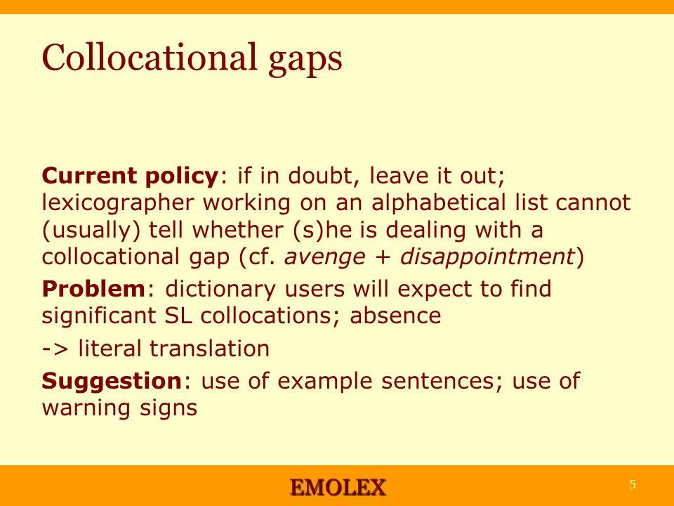 Collocational gaps: exemplification Berufungsverfahren n (professorial) appointment procedure der Stand des ~s how far the appointment process has progressed (Siepmann, in preparation) Enttäuschung ….
