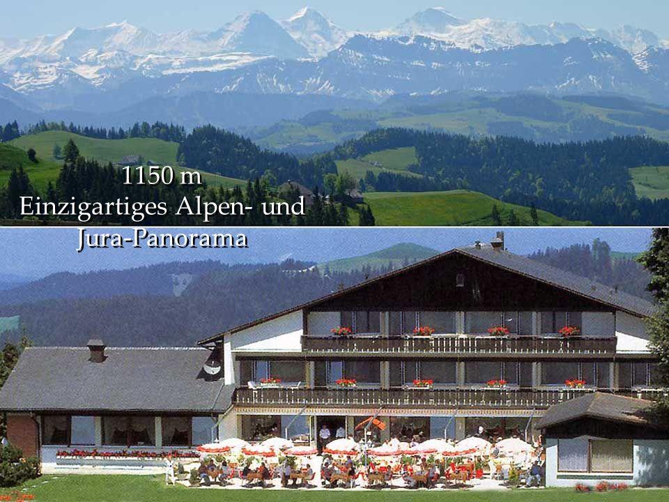 1150 m Einzigartiges Alpen- und Jura-Panorama