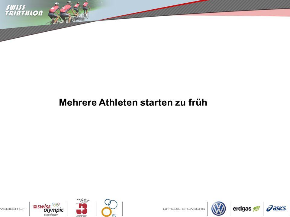 Mehrere Athleten starten zu früh