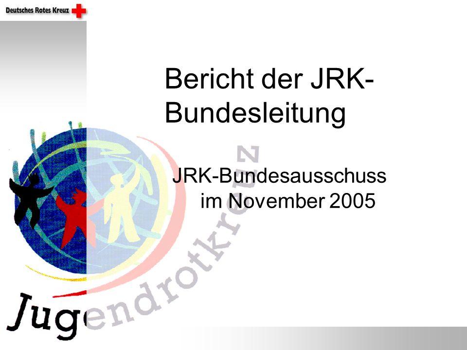JRK-Bundesausschuss im November 2005 Bericht der JRK- Bundesleitung