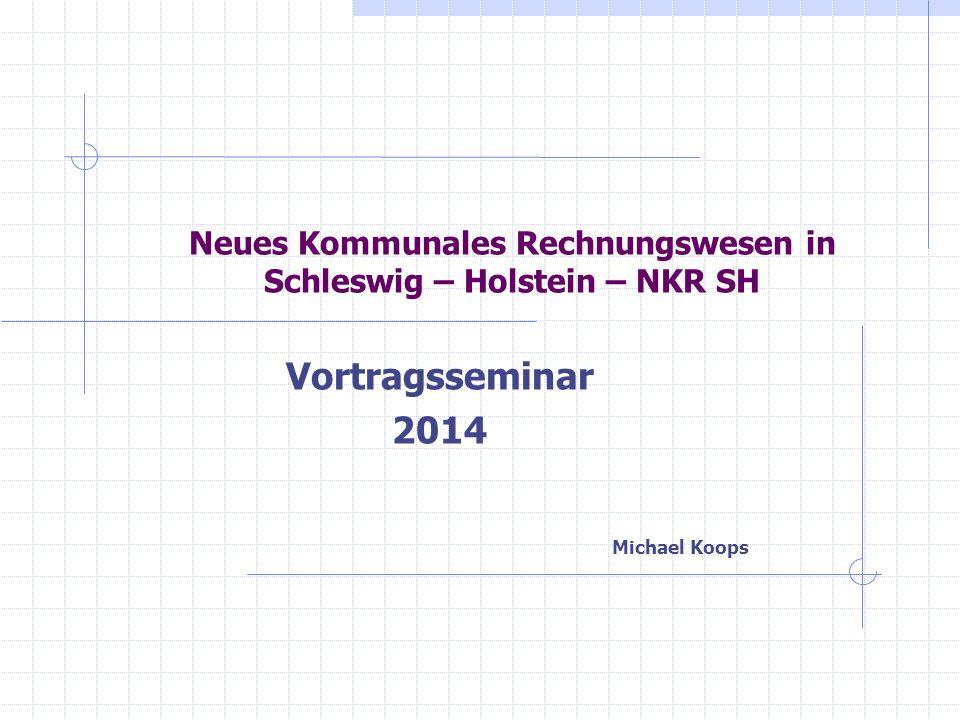 NKR SH Michael Koops Gliederung der Thematik – NKR SH Entwicklung des kommunalen Rechnungswesens Von der Gliederung zum Kontenrahmen Von der Haushaltssatzung zur Bilanz Reformumsetzung an einem Beispiel