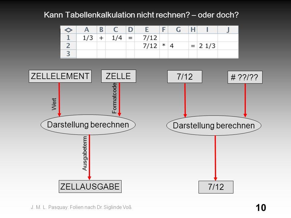 10 Kann Tabellenkalkulation nicht rechnen.– oder doch.