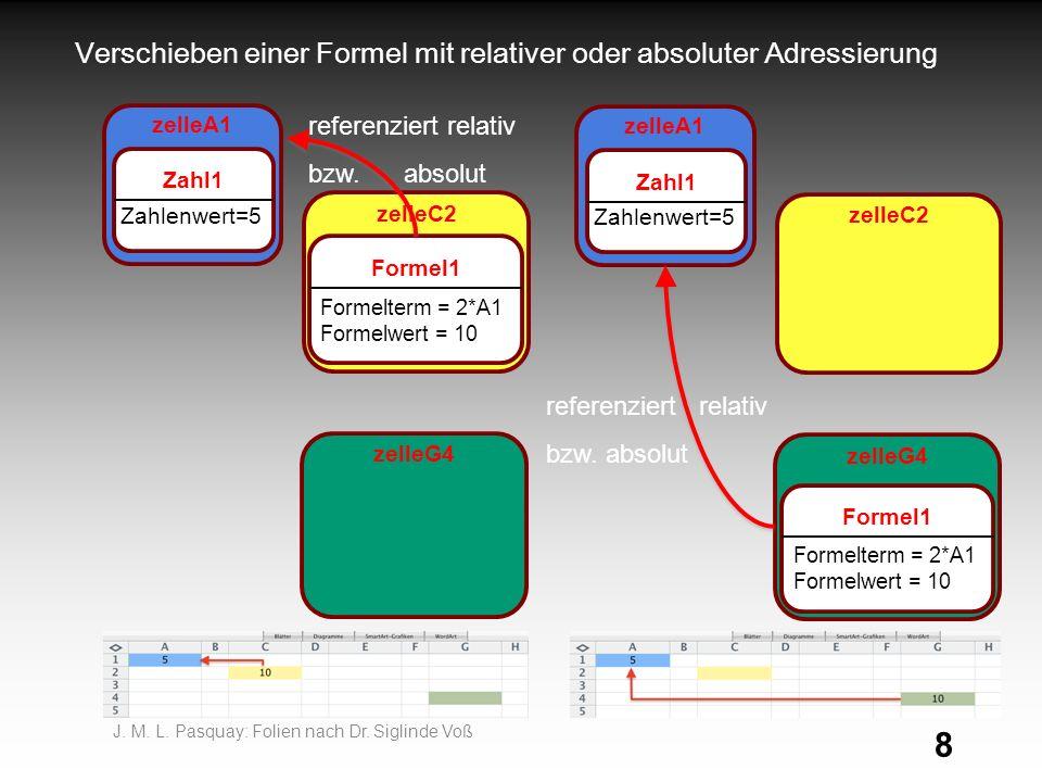 8 Verschieben einer Formel mit relativer oder absoluter Adressierung J.