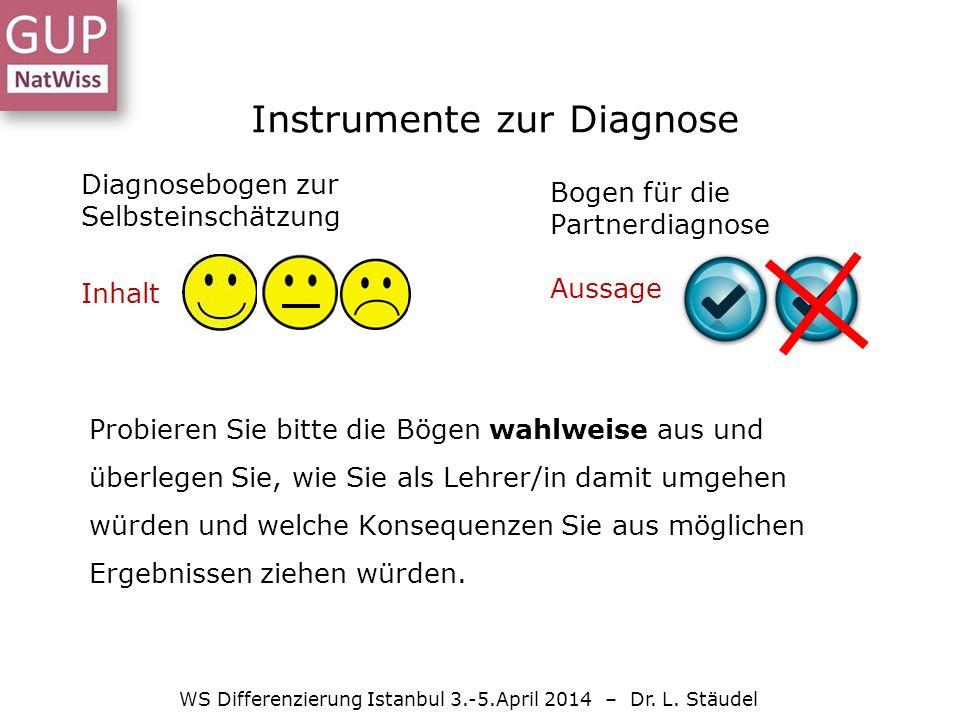 Instrumente zur Diagnose WS Differenzierung Istanbul 3.-5.April 2014 – Dr.