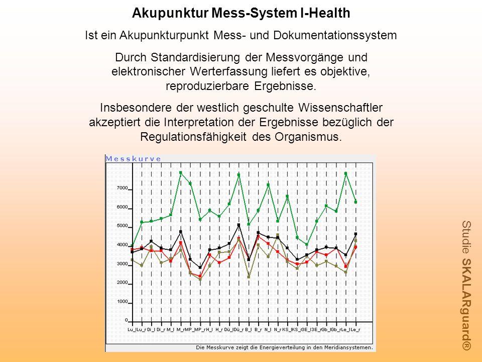 Akupunktur Mess-System I-Health Ist ein Akupunkturpunkt Mess- und Dokumentationssystem Durch Standardisierung der Messvorgänge und elektronischer Wert
