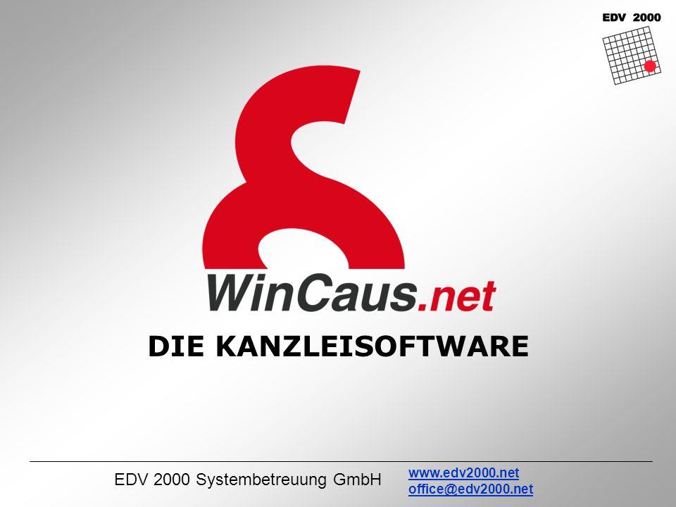 EDV 2000 Systembetreuung GmbH www.edv2000.net office@edv2000.net DIE KANZLEISOFTWARE