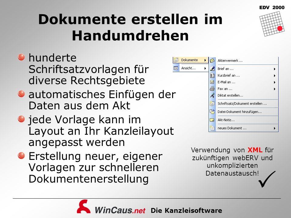 Die Kanzleisoftware Dokumente erstellen im Handumdrehen hunderte Schriftsatzvorlagen für diverse Rechtsgebiete automatisches Einfügen der Daten aus de