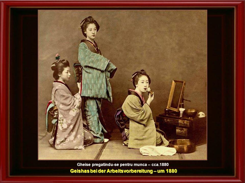 O zi plina de culoare in Iseyama, Yokohama cca.1880-1900 Ein Tag voller Farbe in Iseyama, Yokohama – um 1880-1900