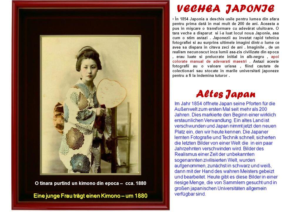 Gheise pregatindu-se pentru munca – cca.1880 Geishas bei der Arbeitsvorbereitung – um 1880