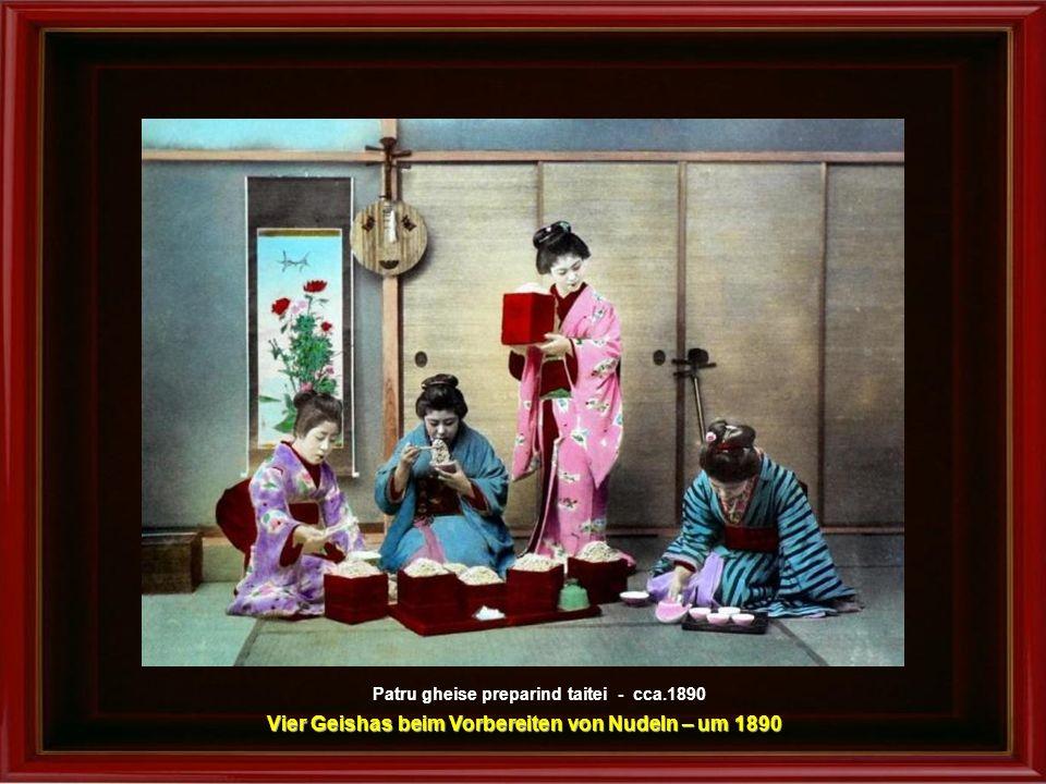 Feeria glicinelor - cca.1890 Extravagante Glyzinien (Blauregen) um 1890
