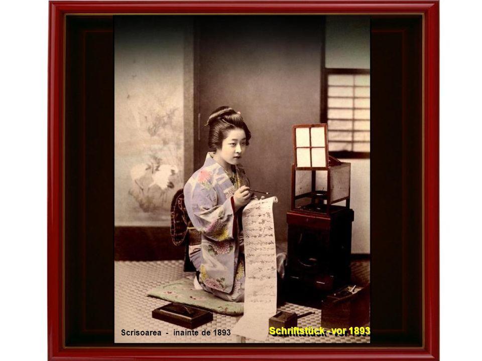 Intrare in templu undeva, in vechea Japonie … sfirsitul sec.al 19-lea Eingang in einen Tempel irgendwo im alten Japan - 19.