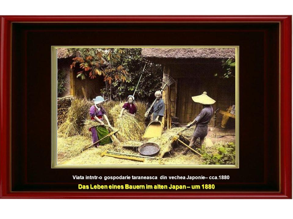 Viata intntr-o gospodarie taraneasca din vechea Japonie– cca.1880 Das Leben eines Bauern im alten Japan – um 1880