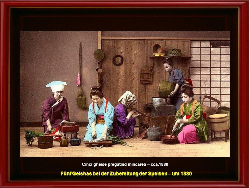 Maiko cu parul despletit – cca.1905 Maiko mit zerzaustem Haar – um 1905