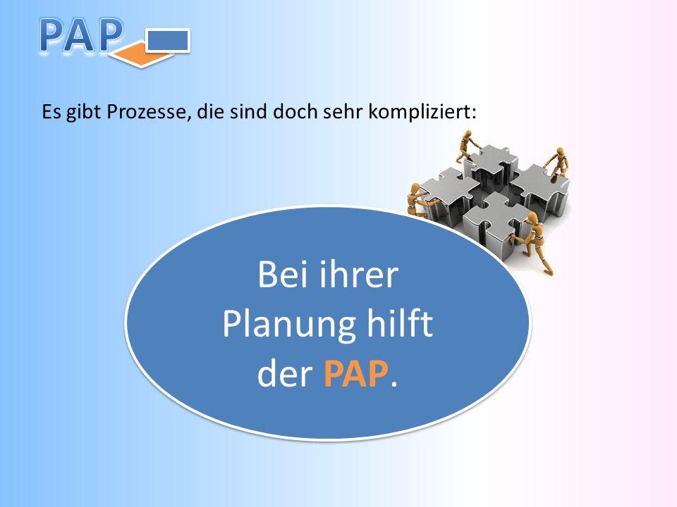 Es gibt Prozesse, die sind doch sehr kompliziert: Bei ihrer Planung hilft der PAP.
