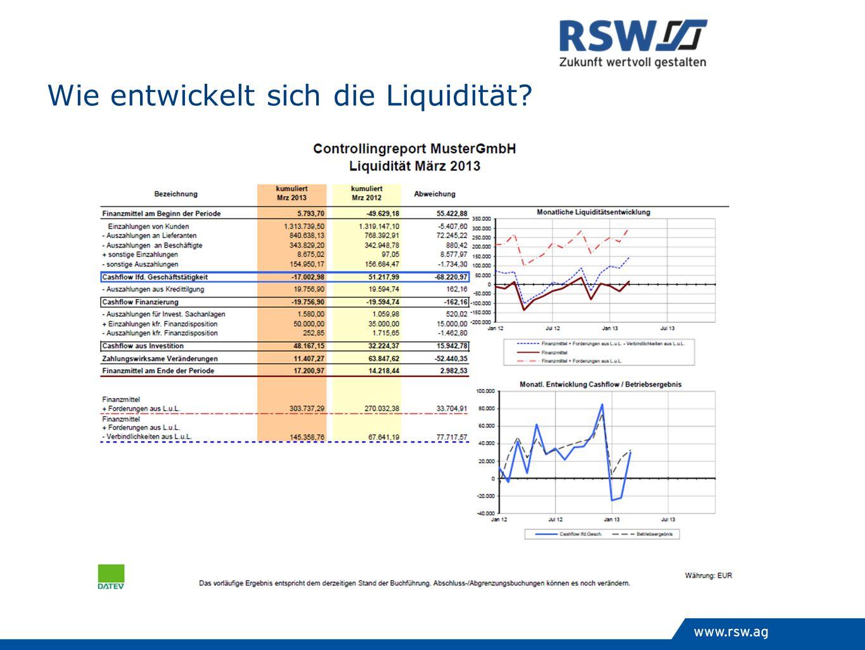 Wie entwickelt sich die Liquidität?