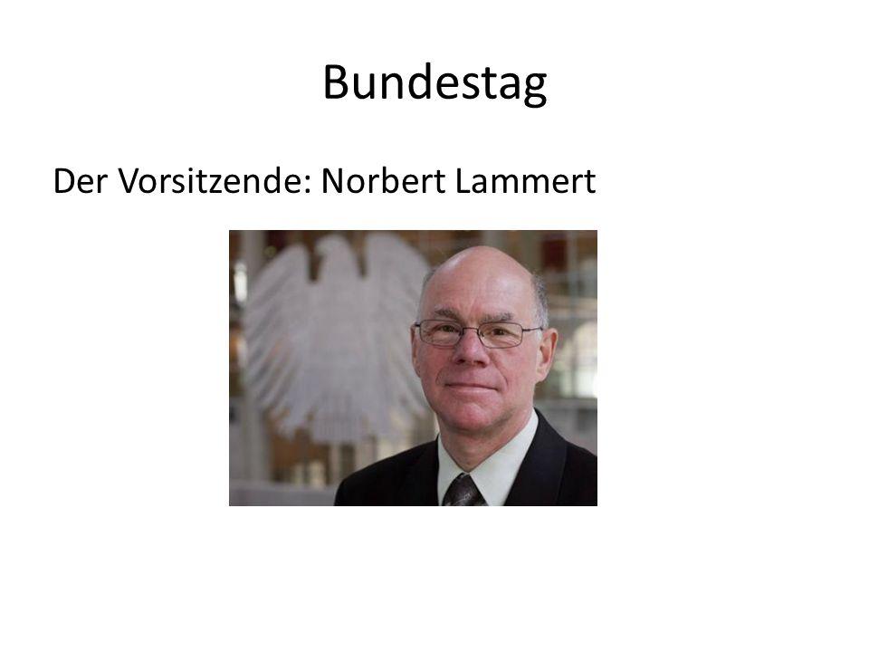Bundestag Der Vorsitzende: Norbert Lammert